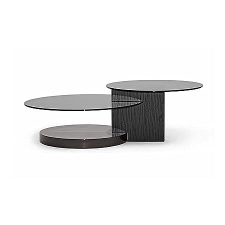 Eclipse Modern Coffee Table (Black/dark brown) (15.25H x 47.5W x 31.5D)