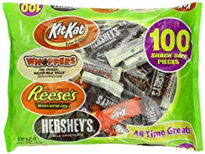 Hershey's Candy Assortment (Hershey's Milk Chocolate, Whoppers, Kit Kat and Reese's Peanut Butter Cups), 100 Pieces