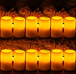 ELEOPTION Indoor/Outdoor Flameless Resin Pillar led Candle with 4 & 8 Hour Timer (12)