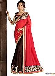 Pragya creations Women's Chiffon Saree (Prag09_Multi)