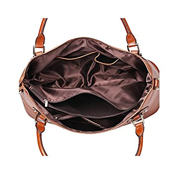 Kattee Vintage Genuine Soft Leather Large Tote Shoulder Bag 2