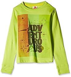 UFO Boys' T-Shirt (AW-16-KF-BKT-215_Lime Green_12 - 13 years)