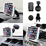 iKross 3 in 1 Universal Compact Windshield / Dashboard / Air Vent Car Mount Holder for Cell Phone / MP3 Player / Smartphone