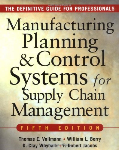 MANUFACTURING PLANNING AND CONTROL SYSTEMS FOR