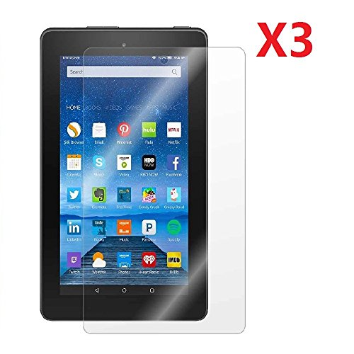 EVERMARKET Premium Mirror Screen Protector Flim for Amazon Fire 7'' 7 inch Tablet [2015 Released] - 3 Packs
