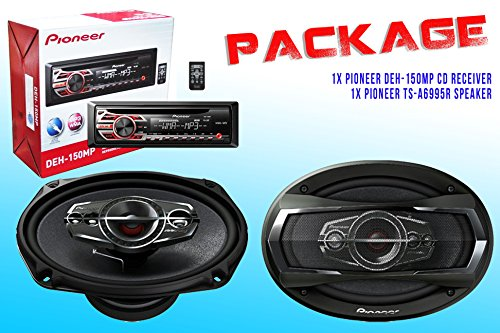 Package ! Pioneer Deh-150Mp Cd-Receiver + Pioneer Ts-A6995R Car Speakers