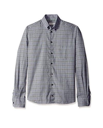 Eton Men's Contemporary Fit Flannel Checked Sportshirt