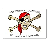 Postcards (8 Pack) Pirate Beatings Will Continue Morale