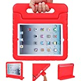 iPad cases, ANZOL lightweight shockproof cover case with handle stand for kids for Apple iPad 2 / iPad 3 / iPad 4(Red)