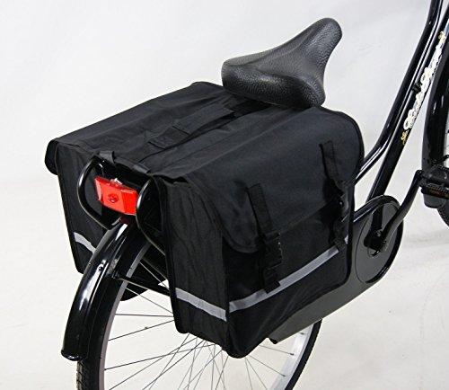 Borsa DOPPIA da fissare al portapacco posteriore per bicicletta UOMO - DONNA Colore NERO