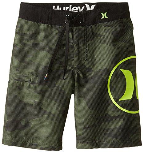 Hurley Big Boys' Camo Boardshort-Camo Green, Camo Green, 18