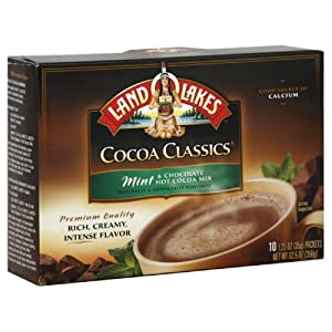 Land O Lakes Chocolate & Mint, Hot Cocoa Mix, 10-1.25-Ounces (Pack of 3)