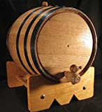 20L American Oak Barrel with Black Bands (20lb)