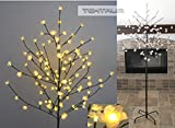 NEW TEKTRUM 6.5' TALL 108 WARM-WHITE LED LIGHTED PLUM BLOSSOM FLOWER TREE FOR CHRISTMAS HOLIDAY PARTY