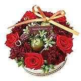 花由 プリザーブド フラワーケーキ ホールタイプ 5.クランベリー フラワーギフト プリザーブドフラワー ブリザードフラワー 誕生日プレゼント 女性 結婚祝い お祝い 花