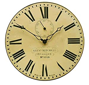buy roger lascelles station wall clock with seconds hand 14 2 inch online at low prices in india. Black Bedroom Furniture Sets. Home Design Ideas