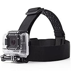 Mobilegear Flexible Head Strap Mount with Adjustable Belt for Yi, SJCAM & GoPro HD Hero Action Cameras