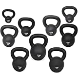 titan fitness cast iron kettlebell 5lb 100lb weight natural solid workout swing