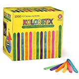 Hygloss 73100 1000-Piece Kolorstix Colored Craft Sticks, 4.5-Inch