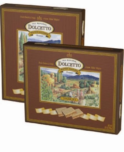Dolcetto Wafer Squares, Tiramisu, 8.5-Ounce (Pack of 6)