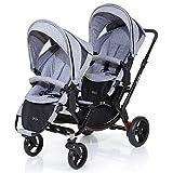 ABC Dise�o Zoom�-�de gemelos y carrito doble�-�Graphite Black, incluye 2�accesorios de coche deportivo�-�Cochecito con accesorios como asiento para ba�era o auto de beb� reci�n nacido. Se puede utilizar