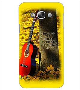 PrintDhaba Guitar D-2250 Back Case Cover for SAMSUNG GALAXY A7 (Multi-Coloured)