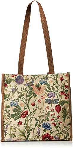Ladies/Girls Shopper Floral Canvas Tote Shoulder