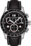 Tissot T0394171605700 Watches, Mens Tissot V8 Chronograph Black Leather Band Watches