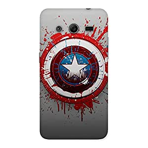 Gorgeous Premier Blood Round Multicolor Back Case Cover for Galaxy Core 2