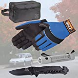 X2 Driver Safety Emergency Survival Tool Kit Must have in Each Vehicle Car Van Truck Automobile with Mechanic Glove rescue Knife Emergency Flashlight Flasher Combination