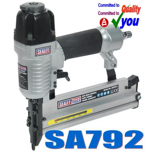 Sealey SA792 Air Nail/ Staple Gun, 50 mm/ 40 mm Capacity
