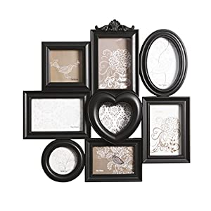 Shabby chic multi image photo frame decorative ornate style display holds 8 - Six pictures photo frame ...