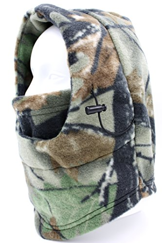 【ノーブランド品】防寒 フリース 3way カモフラ 迷彩 柄 リアルツリー デザイン (ブラウンオリーブ)