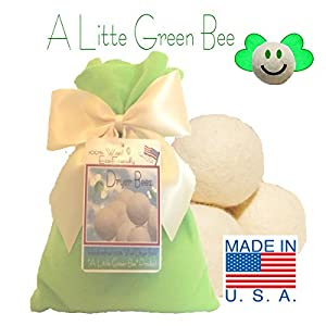 100% Wool Dryer Balls - Set of THREE with FREE little green bag