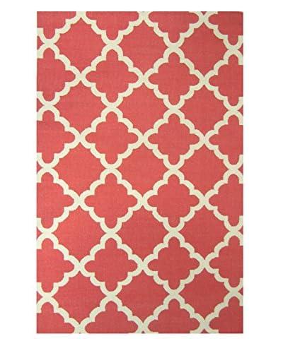 Meva Rugs Flat Weave Hand Woven Kilim Rug, Red, 8' x 11'
