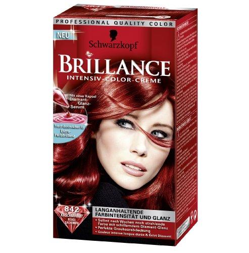 2x Testanera Brilliance Capelli 842 Kaschmirrot / intensità del colore a lunga durata e lucentezza