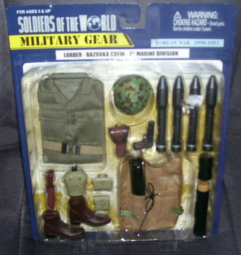 Buy Low Price Formative International Soldiers of the World Military Gear KOREAN WAR 1950-53 LOADER BAZOOKA CREW 1ST MARINE DIVISION Figure (B003C8SRY8)