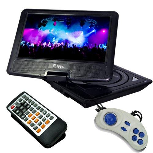 Buyee 7.5″ Swivel TFT LCD Portable DVD Player VCD CD FM Game MP3 MP4 USB SD MMC 16:9