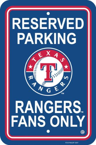 MLB Texas Rangers Plastic Parking Sign at Amazon.com