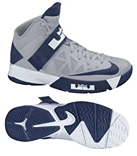 Nike 525017005 Zoom Soldier VI TB Men's Basketball Shoes (Wolf Grey/Midnight Navy-White)