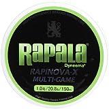Rapala(ラパラ) ライン ラピノヴァX マルチゲーム 1.0号 20.8lb 150m ライムグリーン  RLX150M