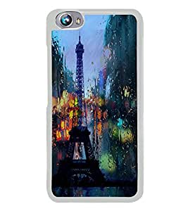 Eiffel Tower 2D Hard Polycarbonate Designer Back Case Cover for Micromax Canvas Fire 4 A107