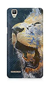 Amez designer printed 3d premium high quality back case cover for OPPO F1 (Lion grunge)