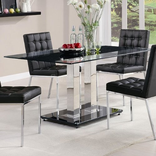 Cheap Coaster Rolien Chrome Finish Table with Tempered Glass Top (B005KBYTXS)