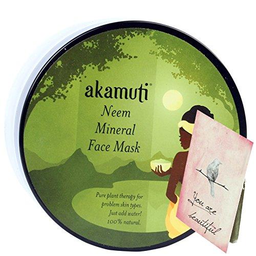 Akamuti - Maschera Viso al Neem Detergente Intensivo Pelle Grassa e Impura 100 gr