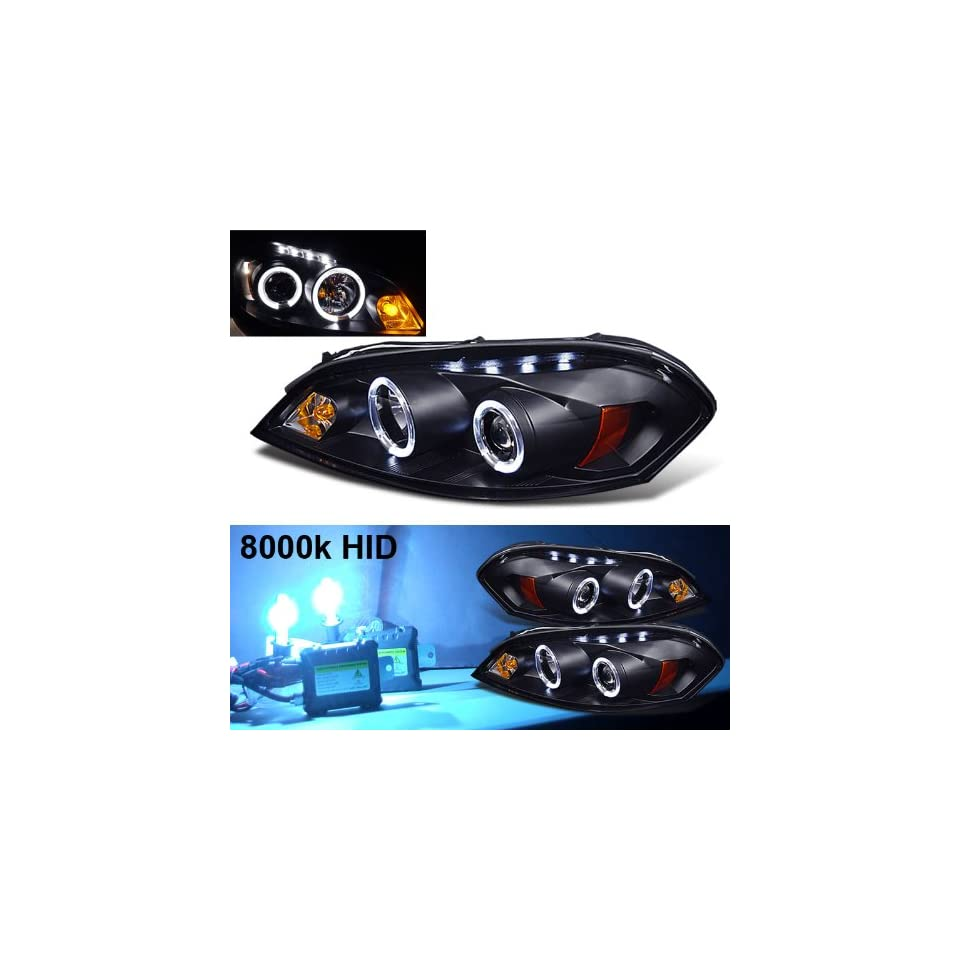 Eautolight 8000k Slim Xenon HID Kit+06 10 Chevy Impala 2x Halo LED Projector Head Lights