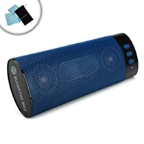 GOgroove BlueSYNC BR2 Bluetooth Speaker w/ Rechargeable Battery, Hands-free Microphone & Travel Friendly Design