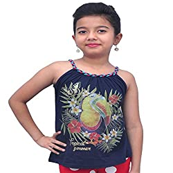 Titrit Blue strapy top for girls