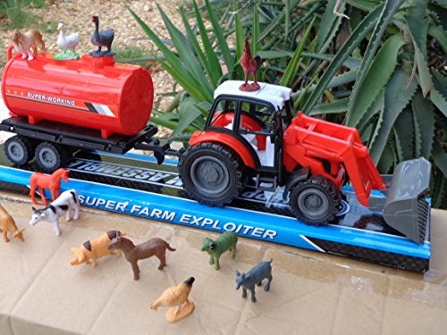 Farmer John Big Farm Tractor 4wd with Trailer Truck 14