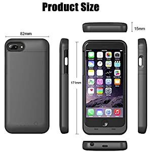 iPhone 7 Plus Battery Case, iBeek Portable 4000mAh Rechargeable Extended Battery Backup Charger Apple iPhone 7 Plus Charging Case Juice Pack Power Bank Cover - Compatible With iPhone 6S Plus /6 Plus